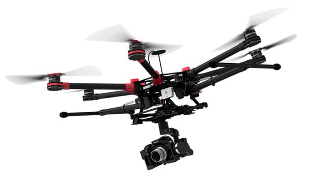 DJI S900 Spreading Wings filming drone