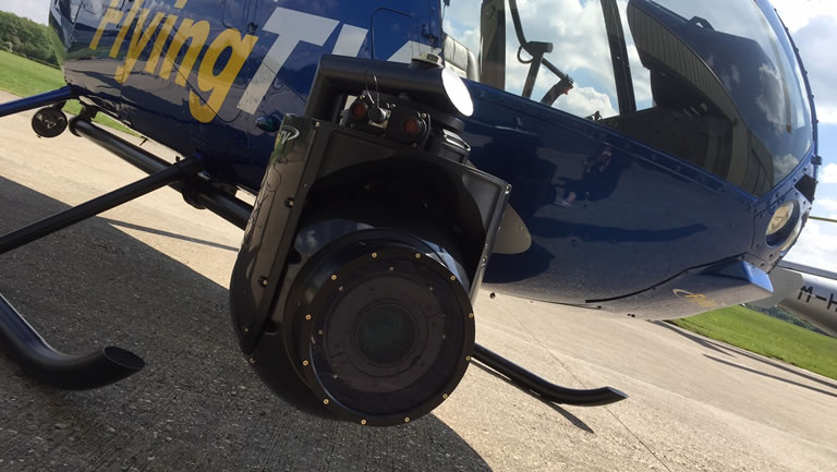 GSS Camera attached to FlyingTv helicopter
