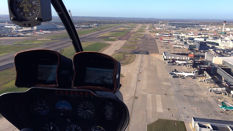 Aerial filming at Heathrow