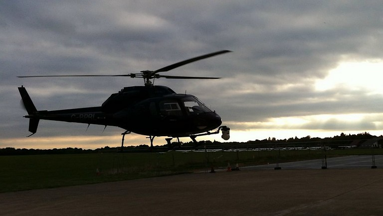 Airbus Twin Squirrel aerial filming helicopter