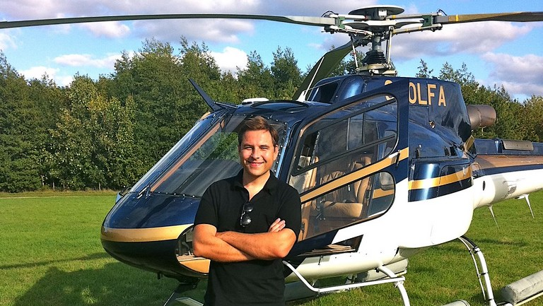 VIP helicopter and pilot