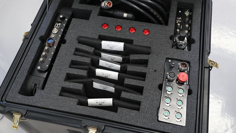 GSS camera cabling in flight case