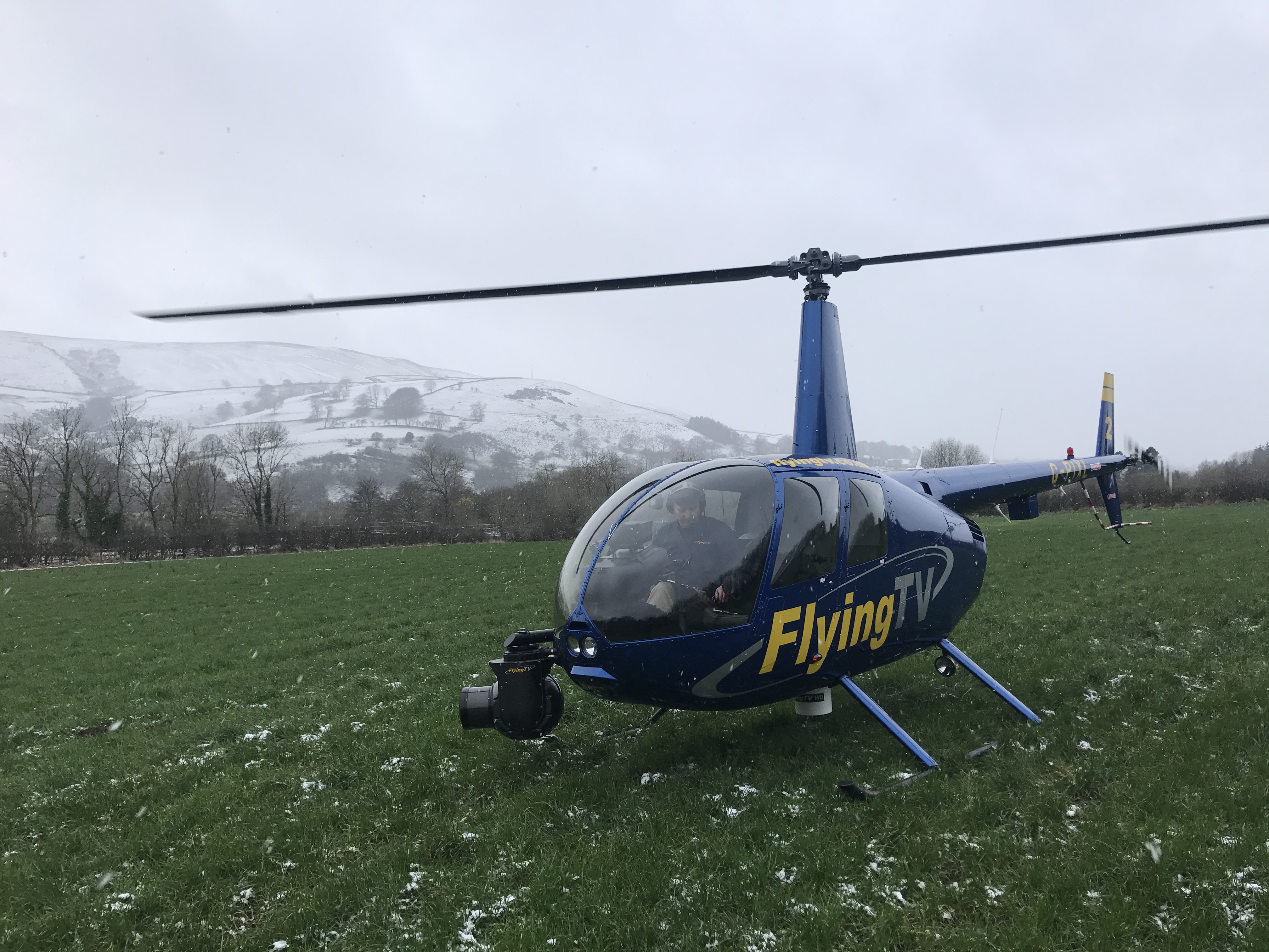 Robinson R44 Raven aerial filming helicopter